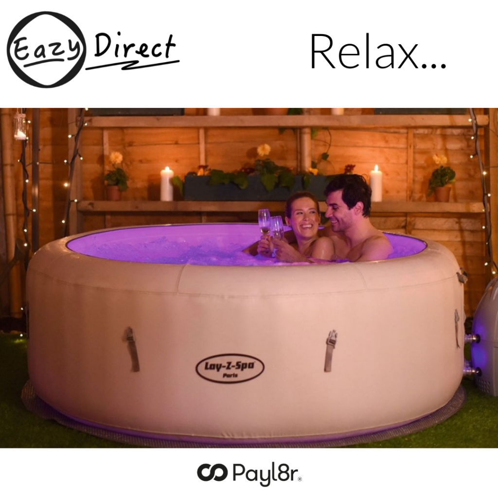payl8r buy now pay later lay-z spa vegas Eazy Direct payl8r transparent logo hot tub 0% finance payl8r pay monthly pay weekly hot tub low credit bnm wayfair the range cheap hot tub buy now pay later lay z spa layzspa hot tub financing low credit bad credit