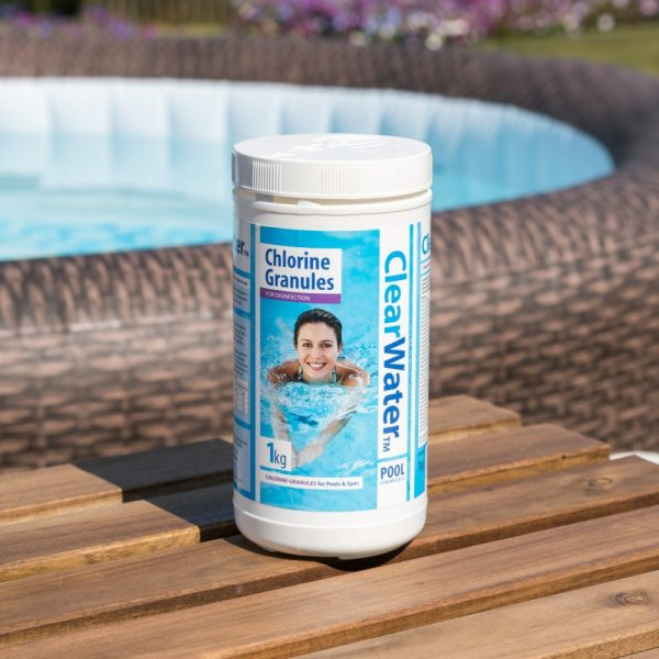 clearwater Chlorine granules 1kg, clear water chlorine granules, chlorine, ph+ ph- ph down, ph up, foam remover, testing strips, water testing strips, paddling pool large, garden hot tub, hot tub mat, Eazy Direct payl8r hot tub 0% finance payl8r pay monthly pay weekly kids pool, paddling pool, garden pool, low credit bnm wayfair the range cheap hot tub buy now pay later lay z spa layzspa hot tub lazy spa vegas inflatable financing low credit bad credit
